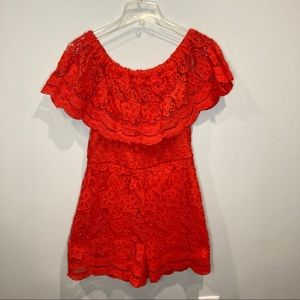Luxe Lace Off the Shoulder Romper